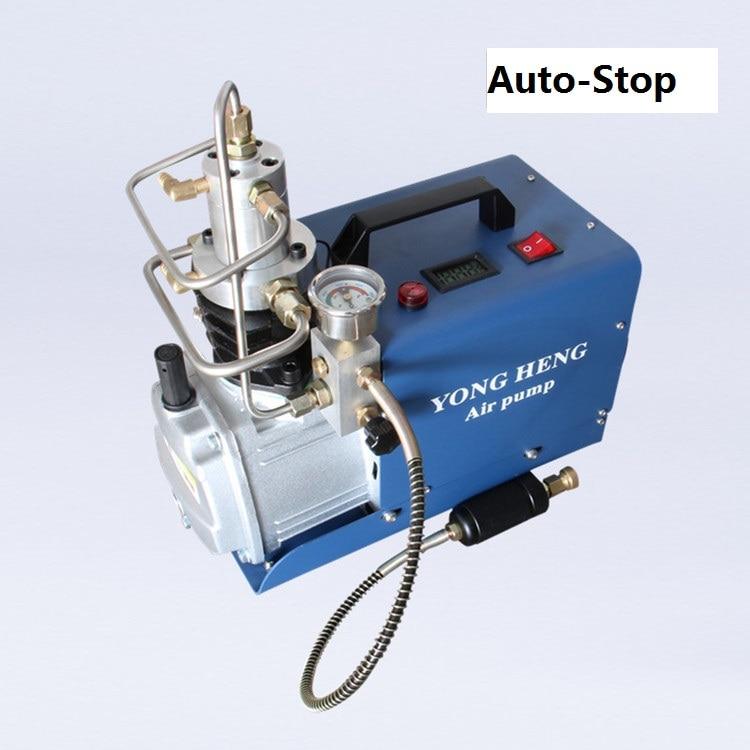 Nouveau compresseur d'air Auto-Stop 300Bar électrique haute pression PCP pompe à Air refroidissement par eau