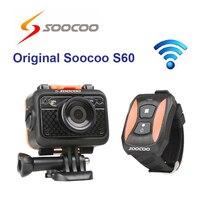 Оригинальный soocoo на s60b Wi Fi спорт действий Камера анти шок 60 м Водонепроницаемый 1080 P Full HD 170 градусов объектив беспроводной Дистанционное упр