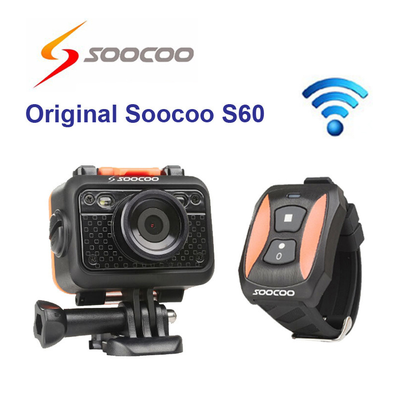 цены Original SOOCOO S60B Wifi Sport Action Camera Anti-Shock 60M Waterproof 1080P Full HD 170 Degree Lens Wireless Remote Control