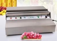 450 мм Нержавеющаясталь ручная упаковочная машина Пластик машина для обертывания в пленку для супермаркета фрукты овощи еда упаковки