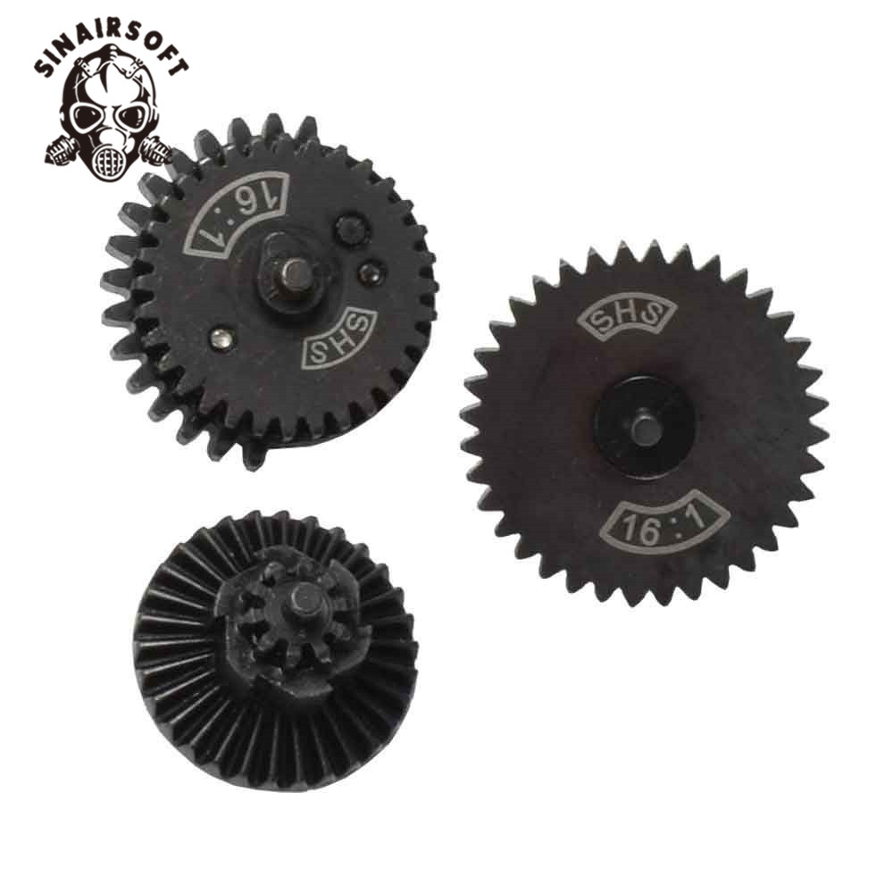 SINAIRSOFT SHS 16:1 High Speed Gear Set For Ver.2 / 3 AEG Airsoft Gearbox Hunting Paintball Accessories