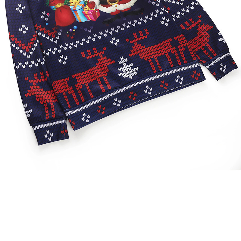 70e01934e6d4 Funny Christmas Pullovers Men Santa Claus Purple Sweatshirt Elk Print 2019  New Year Polyester 3d Hoodie Male Autumn Clothing