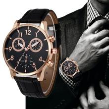 Luxury Men Watches Fashion Retro Design Leather Band Analog Alloy Quartz Wrist