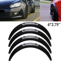 4Pcs 2.75 inch 70mm 2 inch 50mm Universal Gloss Black Carbon Flexible Car Body For Fender Flares Extension Wide Wheel Arches