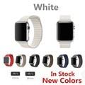 Banda de lazo para apple watch milanese bucle banda de metal original del cuero genuino correa de reloj para apple watch