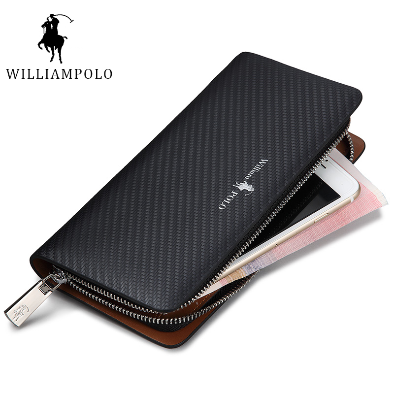 HOT!!! WilliamPolo 2017 Fashion 100% Leather Wallets