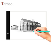 TOFOCO Ultra Thin A4 LED Light Stencil Touch Board Copy Painting Drawing Board Table Pad Dimmable