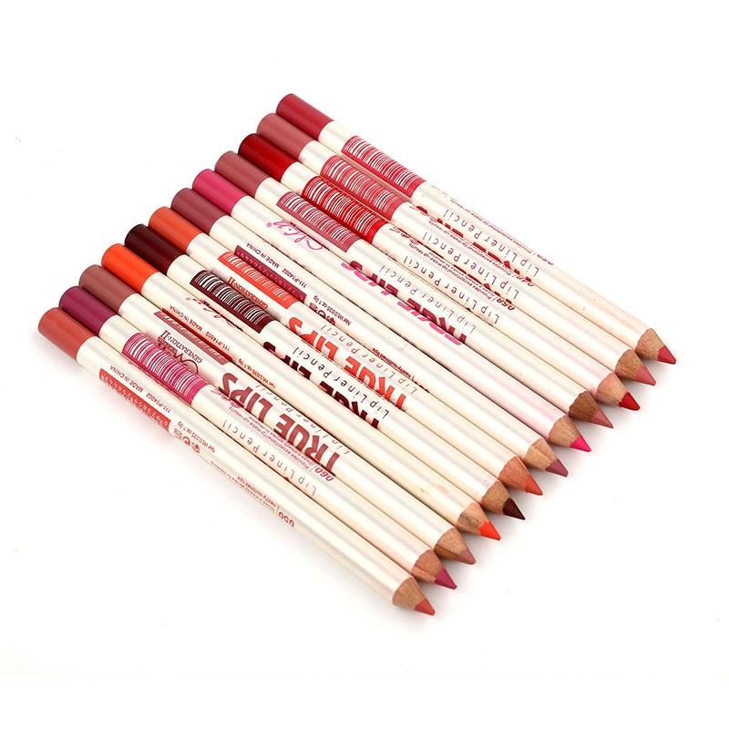 Professional Matte Lip Liner Pencil Set Waterproof Long Lasting Matte Lipliner Pen Makeup Cosmetic Tools 6/12pcs/set