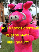 Sport Anime Cosply Costumes Cool Pink Wild Boar Mascot Costume Adult Cartoon Character Pig Hog Mascotte Fancy Dress Kits 1995