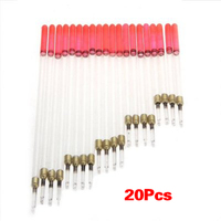 Wholesale 5X 20 Clear Crystal Waggler Fishing Fish Floats Floating Stem Tube Set