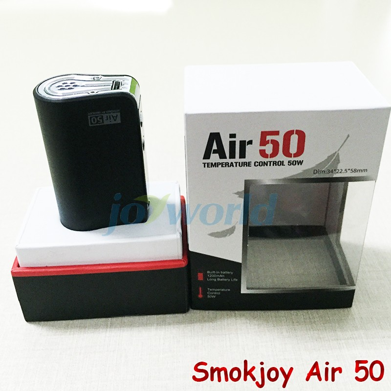 100%Electronic Cigarette Smokjoy Air 50W TC  VW Box Mod 1200mAh Build In Battery 7-50w Tiny Size SmokJoy air 50 VS evod mega YY (7)