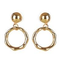 Circle Earrings For Women Alloy Gold Color Earring Earings Brincos Pendientes Mujer Moda Oorbellen Voor Vrouwen Orecchini e043