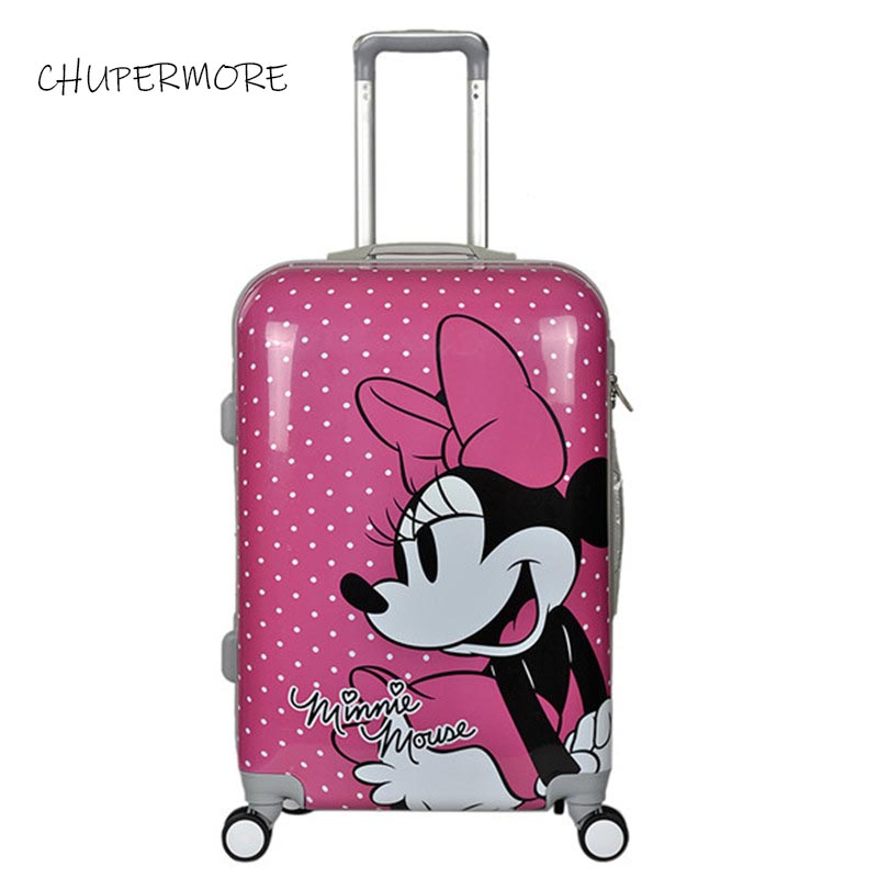 Cute Cartoon Brand Rolling Luggage Spinner High Quality Children Travel Bag Kids/girl/boys Suitcase Wheels 20 Icnh Cabin Trolley