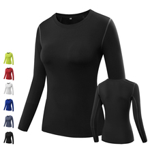 2016 Women's Yoga Gym long sleeves Compression Tights Jersey Sportwears Dry Quick Running long Sleeve Fitness Clothes