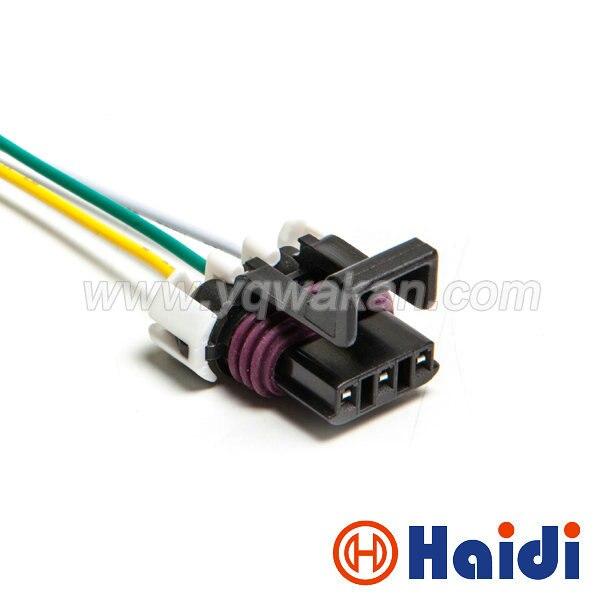 Free shipping 1set Delphi 3pin Waterproof Speed crankshaft position sensor plug wire harness  12110293