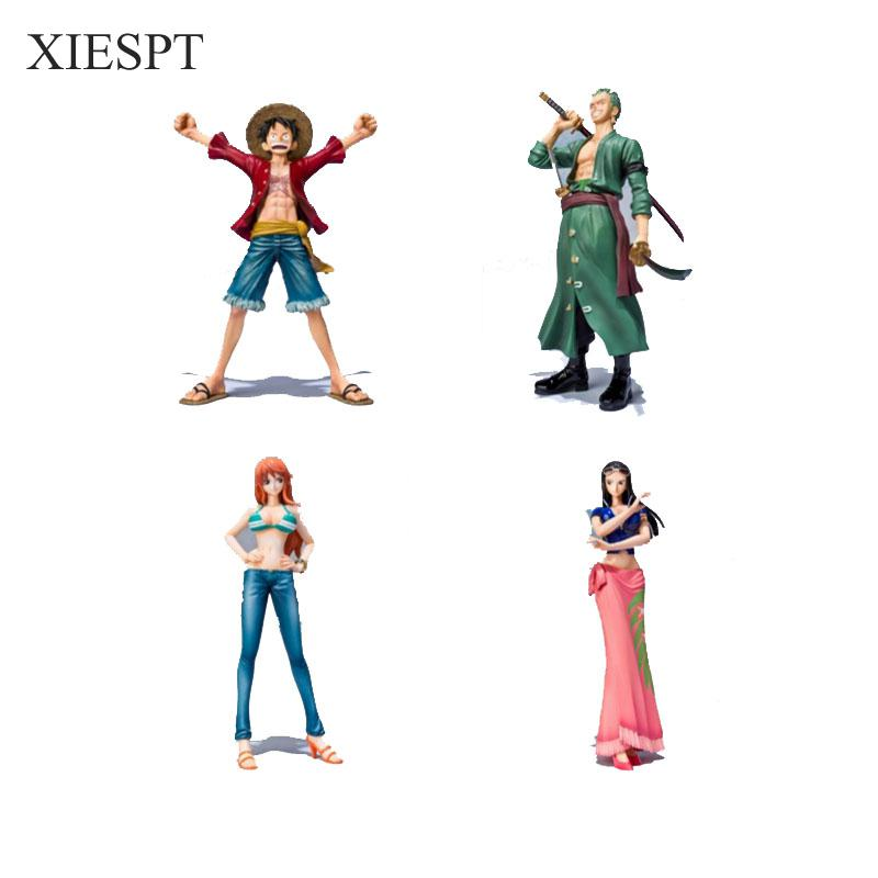 One Piece PVC Action Figure Toys Without Box 16cm Luffy Zoro Robin Nami PVC Figure Toy Dolls Model For Gifts  F0532 free shipping hello kitty toys kitty cat fruit style pvc action figure model toys dolls 12pcs set christmas gifts ktfg010