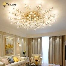купить Modern Luxury LED Crystal Chandelier Ceiling Lustre de cristal Crystal ball Pendant Hanging Lamp Home Kitchen Lighting Fixtures по цене 5457.88 рублей