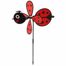 New 1Pc Bumble Bee / Ladybug Windmill Whirligig Wind Spinner Home Yard Garden Decor Toy Gift