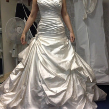 kejiadian Vintage Plus Size Wedding Dress Satin train