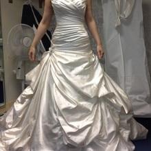 kejiadian Vintage Plus Size Wedding Dress Satin train