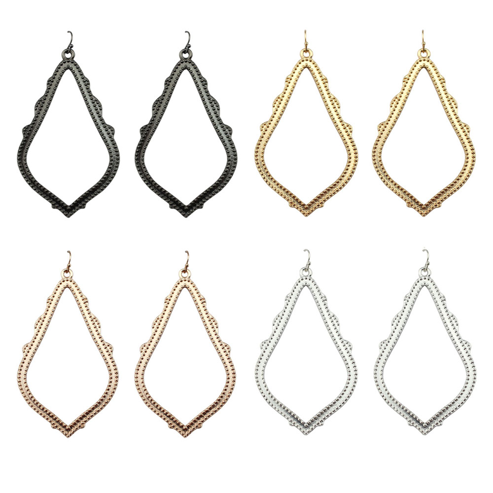 GET IT GIRL Gold Filigree Large Style Teardrop Earrings for Women Fashion Brand KS Earrings Jewelry Wholesale