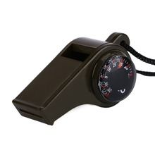 Free Shipping Free Shipping1PC New black Whistle Compass 3 in1 Survival Camping Thermometer new brand High Quality цена