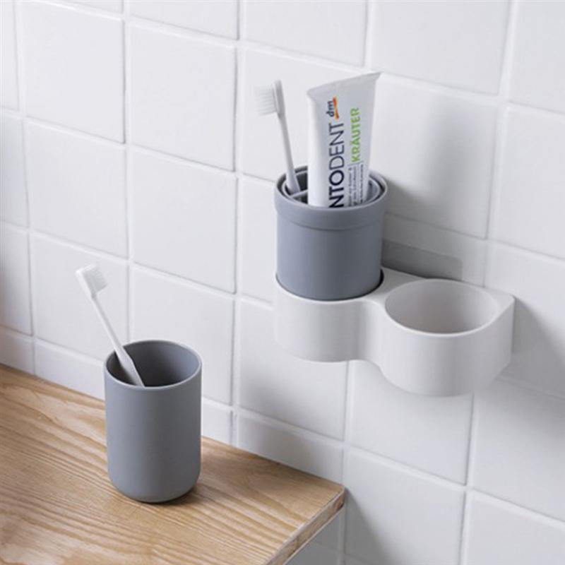Image 5 - 1 Pc Non Toxic Toothbrush Holder Plastic Cup Holder Organizer Toothpaste Holder For Home Bathroom Countertop Storage Accessories-in Toothbrush & Toothpaste Holders from Home & Garden