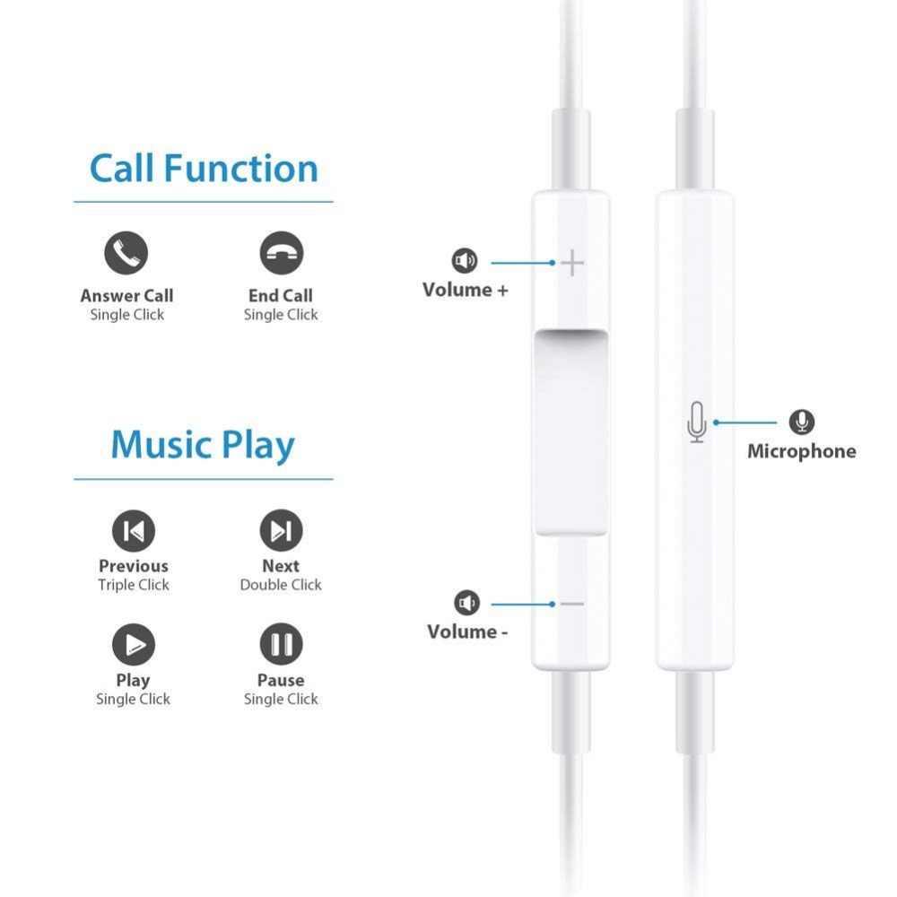 KISSCASE Универсальный 3,55 мм провод управления для наушников для xiaomi телефон наушников Тип C проводные наушники huawei kulaklik auriculare