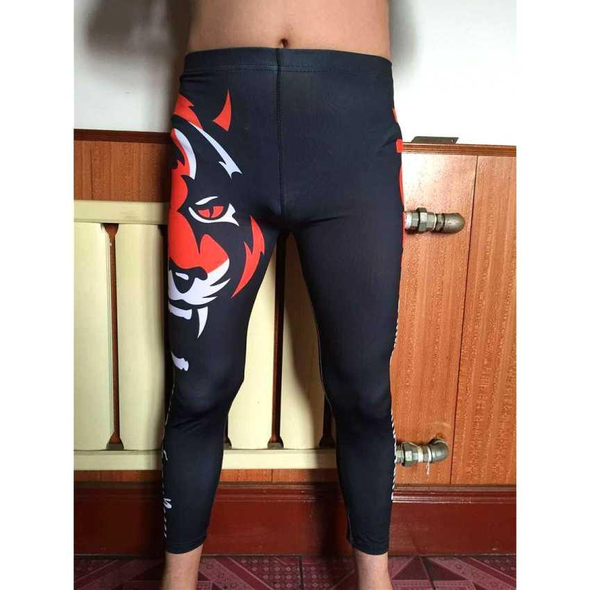 Suotf Tiger Muay Thai Kickboxing Ketat Merah Celana Bernapas Latihan Kebugaran Celana Pendek Muay Thai Tinju Celana Pendek Mma Celana Pendek Boxeo