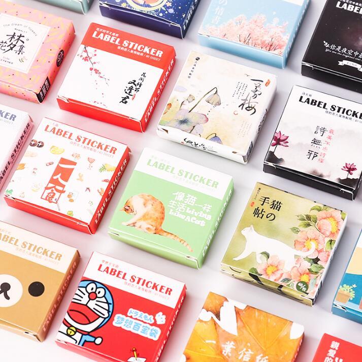 40 Pcs/pack Cute Box Package Decorative Sticker Set Diary Album Label Sticker DIY Stationery Stickers Escolar Papelaria