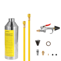 Car Air Conditioning Pipe Cleaning Bottle Flush Canister Clean Tool Set Kits R134a R12 for Auto A/C Air Conditioning Tool Kits