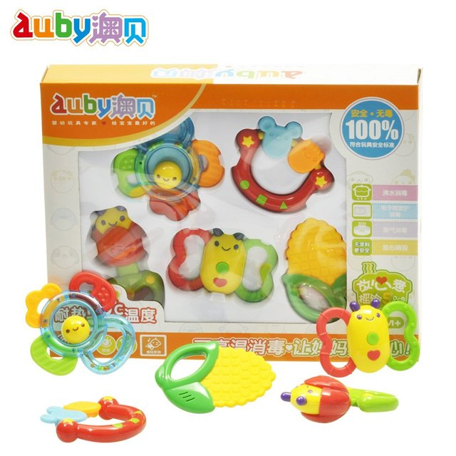 Obbe toys baby teethers rattles, 5 newborn baby toy 0-1 year old