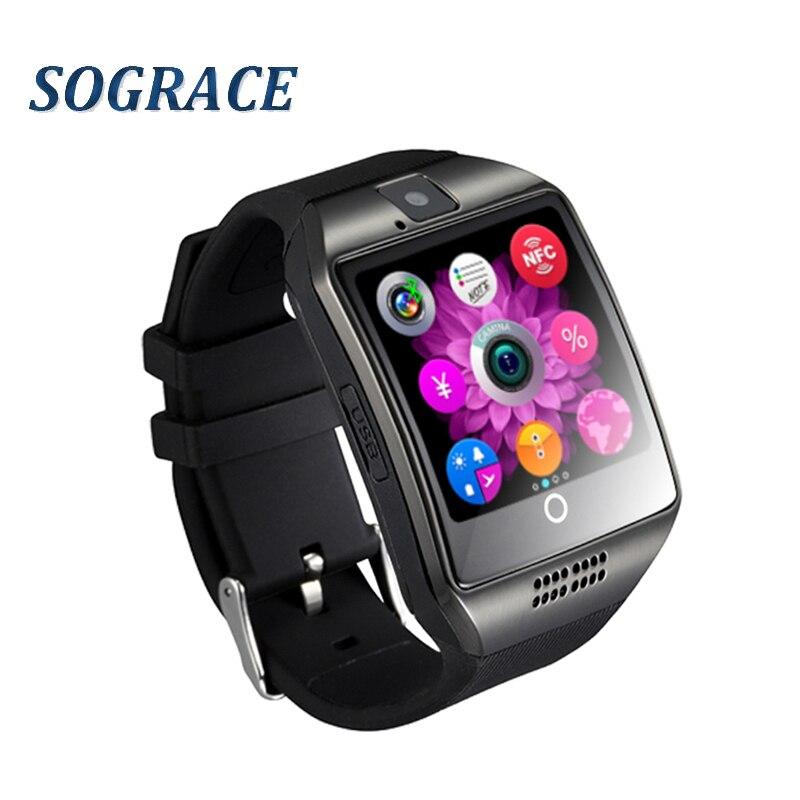 Q18 Bluetooth Smart Uhr Mit Kamera Facebook Whatsapp Twitter Sync SMS Smartwatch Unterstützung SIM TF Karte Für IOS Android PK GT08