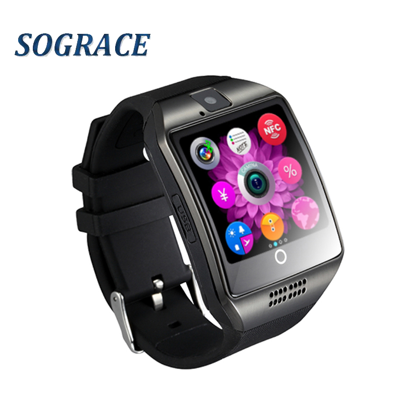 Q18 Bluetooth Smart Watch With Camera Facebook Whatsapp Twitter Sync SMS Smartwatch Support SIM TF Card For IOS Android PK GT08