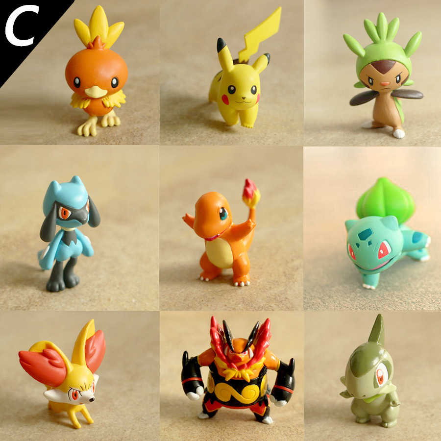 4cm Original Riolu Fennekin Torchic Chespin anime cartoon action & toy figures Collection model toy KEN HU STORE pokemones