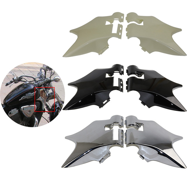 Chrome Black Motorcycle Frame Neck Cover Cowl Wire Covers Side Frame ...