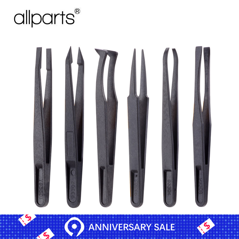ESD Anti-static Carbon Fiber Tweezers Repair Tools For IPhone And Others Disassembling Tweezer ABS Plastic Precision Tool