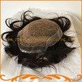 Мужской части волос узлы отбеливателя выглядит очень естественно Индийские волосы база швейцарский шнурок и кожу вводят мужчин тупею бесплатная доставка