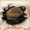 Mens hair pieces bleach knots looks very natural Indian hair base swiss lace and injected skin men toupee free shipping