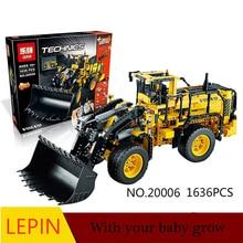 DHL LEPIN 20006 technic series Volvo L350F wheel loader Model Building Kit Blocks Bricks toy Compatible  with legoed 42030