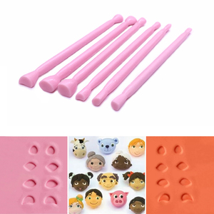 Cartoon Eyes Nose Fondant Cake Decorating Cutter Fondant Sugar Craft Mold Tools(China)