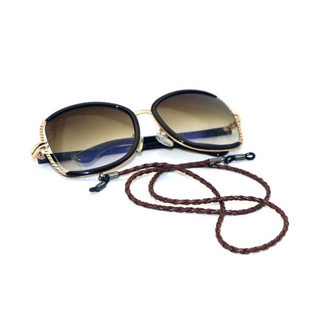 Fashion Leather String Rope Adjustable End Glasses Neck Strap Exquisite Eyeglass Cord Universal Eyeglass Accessories