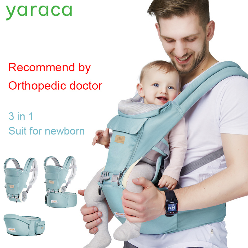 Baby Hipseat For Newborns 3 in 1 Ergonomic Baby Carrier For 0-36 Month Load Bearing 36kg Wrap Sling For ChildrenBaby Hipseat For Newborns 3 in 1 Ergonomic Baby Carrier For 0-36 Month Load Bearing 36kg Wrap Sling For Children
