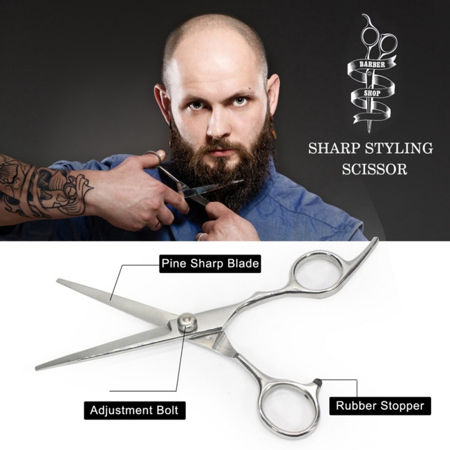Men Beard Care Kits Beard Wax/Oil/Comb/Brush/Scissor Beard Styling Tools Set For Gift 3