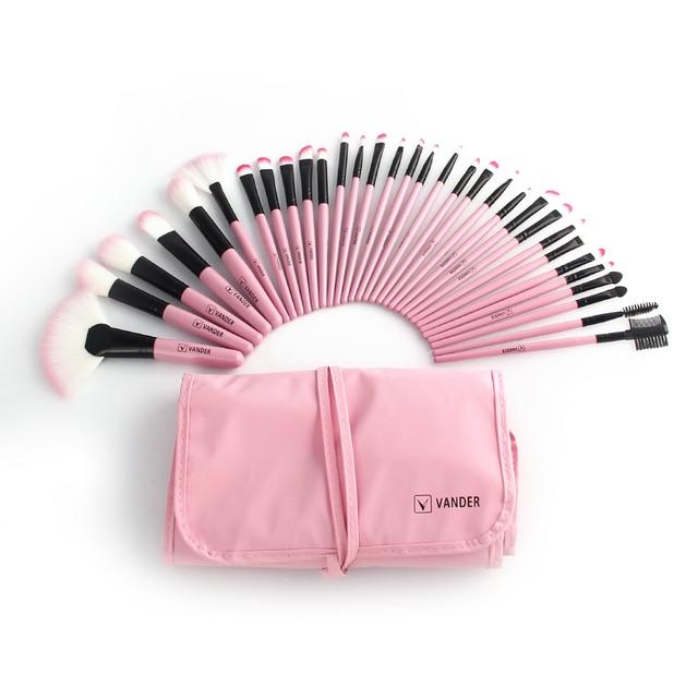 Vander 32Pcs Makeup Brushes Eye Shadows Lipstick Powder Foundation Brushes With Cosmetic Bag pincel Make Up Brushes Kits 4