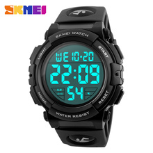 цена SKMEI New Sports Watches Men Outdoor Fashion Digital Watch Multifunction Waterproof Wristwatches Relogio Masculino в интернет-магазинах