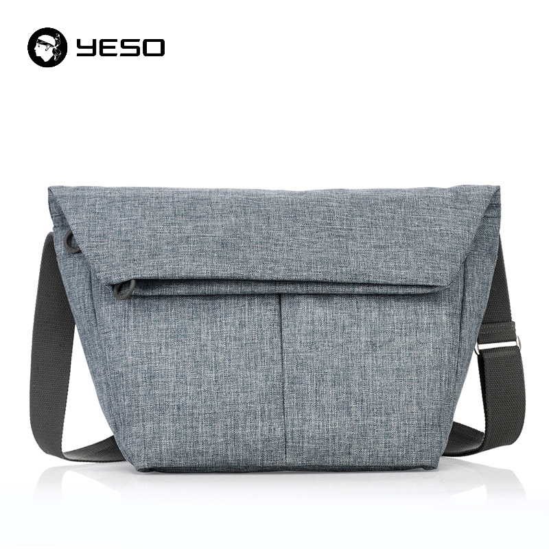 YESO New Tablet Messenger Bag 11 12 inch Oxford Waterproof Business Casual Crossbody Bag Blue-grey Notebook Messenger Bag Unisex