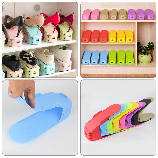 16PCS Double Shoe Organizer Modern Shoes Rack Shoe Storage Cleaning Cabinet Shoes Organizers