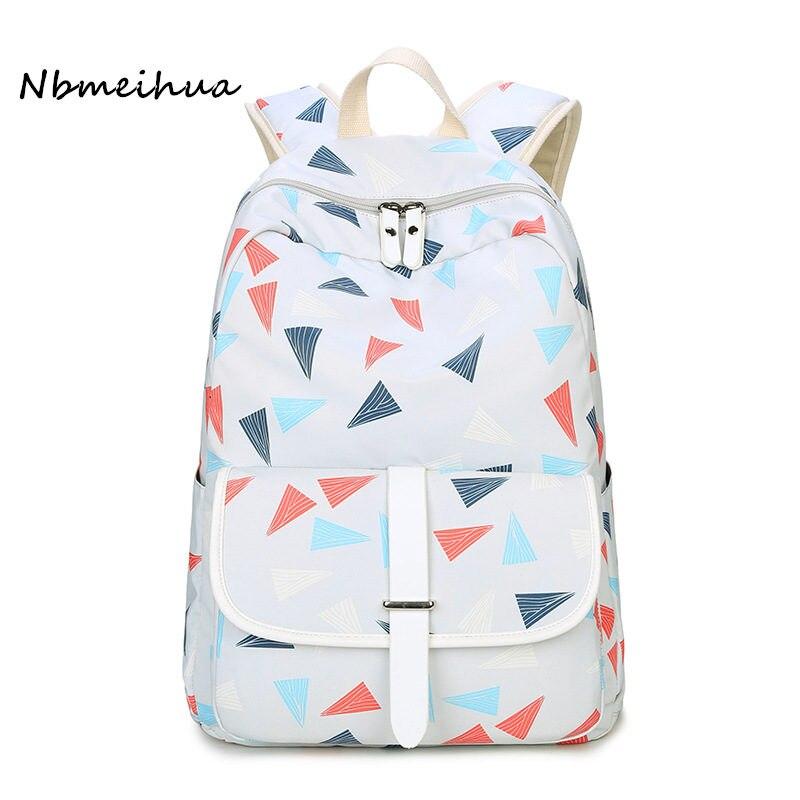Nbmeihua Feminina Backpack Women  Waterproof Shoulder Bagpack Female Laptop Back Pack Sac a Dos Casual Travel Bag