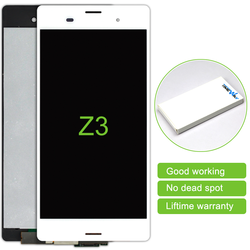 Top Fashion 5 Pcs Mobile Phone Lcd Display Touch Screen Digitizer Assembly For Sony Xperia Z3 L55t D6653 D6633 5.2 inch